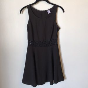 H&M Little Black Skater Dress with Lace Panel